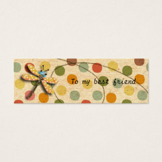 Candy Dragonfly Bookmark Mini Business Card