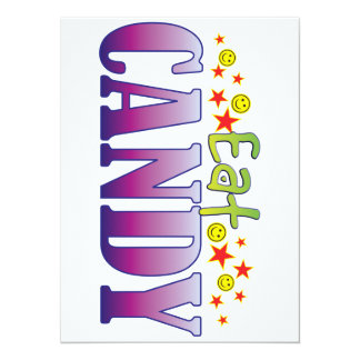 Candy Eat 5.5x7.5 Paper Invitation Card