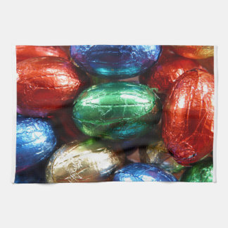 candy eggs kitchen towel