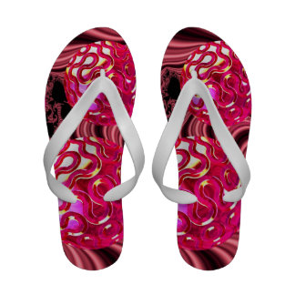 Candy Explosion, Abstract Rose Jewel Candy Flip Flops