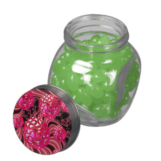 Candy Explosion, Abstract Rose Jewel Candy Glass Candy Jars