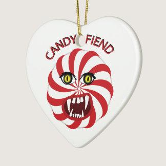 Candy Fiend Ceramic Ornament