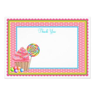 Candy Flat Notecard Custom Invite