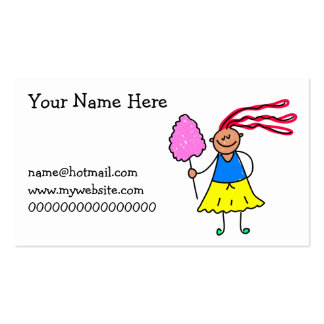 Candy Floss Kid Double-Sided Standard Business Cards (Pack Of 100)