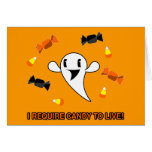 Candy Ghost Greeting Cards