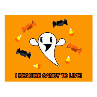 Candy Ghost Postcard