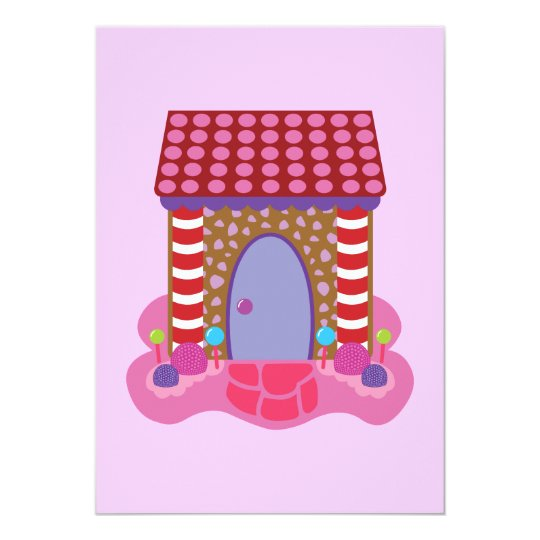 Candy Gingerbread House Card