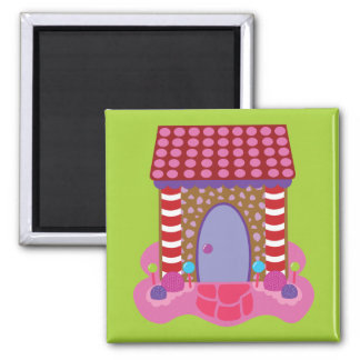 Candy Gingerbread House Refrigerator Magnets