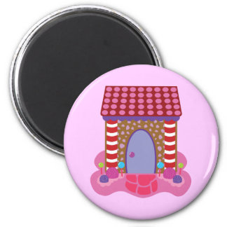 Candy Gingerbread House Magnet