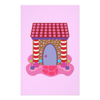 Candy Gingerbread House Stationery Paper