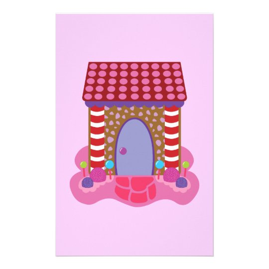 Candy Gingerbread House Stationery