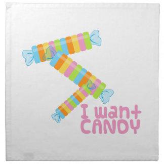 Candy Girl Printed Napkins