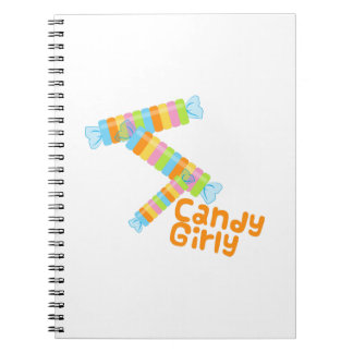 Candy Girl Spiral Note Books