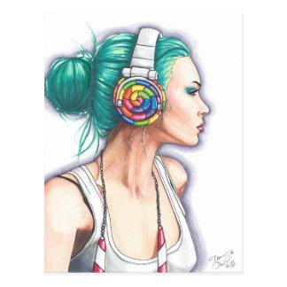 Candy Girl Postcard Punk Rocker Postcard Candyland