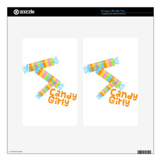 Candy Girl Kindle Fire Decals