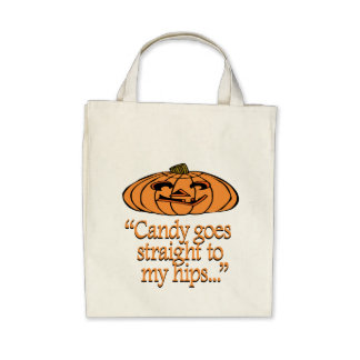 Candy goes straight to my hips canvas bags