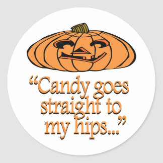 Candy goes straight to my hips stickers