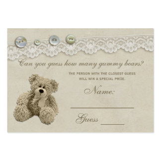 Candy Guessing Game Teddy Bear Baby Shower Large Business Card