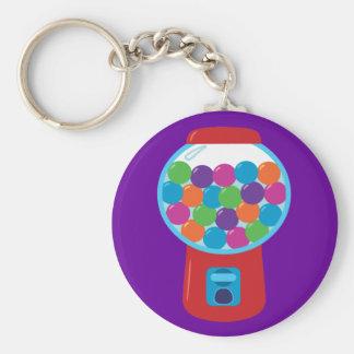 Candy Gumball Machine Basic Round Button Keychain
