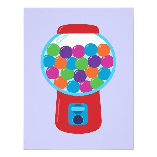 Candy Gumball Machine Card
