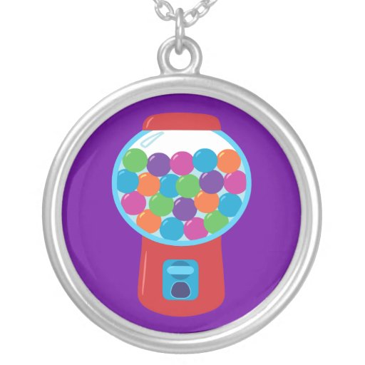 Candy Gumball Machine Custom Necklace
