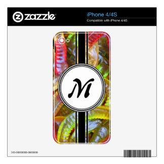 Candy Gummie Sweets Monogram Pattern Decals For iPhone 4S