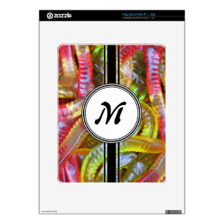 Candy Gummie Sweets Monogram Pattern Skins For The iPad