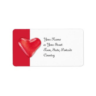 Candy Heart 2 Address Label label