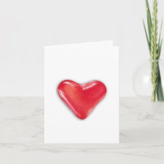 Candy Heart 2 Note Card card