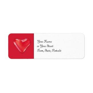 Candy Heart 2 Return Address Label label