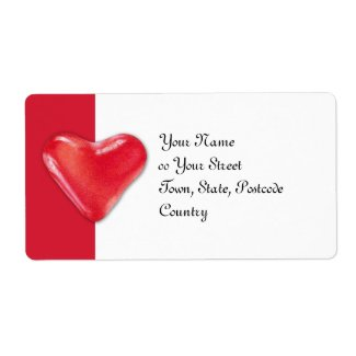 Candy Heart 2 Shipping Address Label label