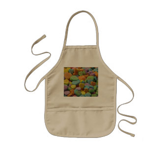 Candy Heart Be Mine I love you Texture Template Kids' Apron