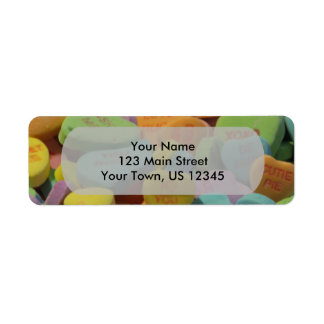 Candy Heart Be Mine I love you Texture Template Label