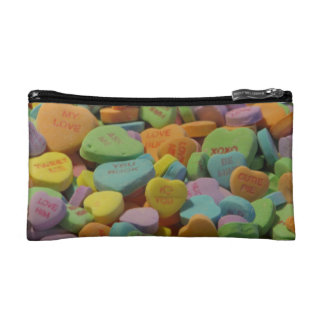 Candy Heart Be Mine I love you Texture Template Makeup Bag