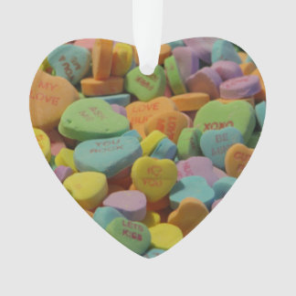 Candy Heart Be Mine I love you Texture Template Ornament
