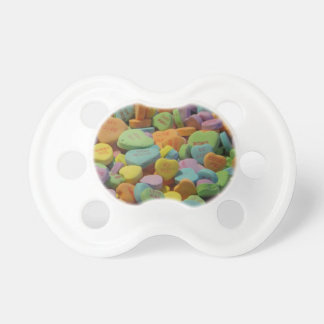 Candy Heart Be Mine I love you Texture Template Pacifier