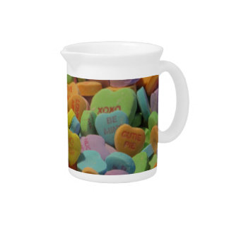 Candy Heart Be Mine I love you Texture Template Pitcher