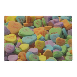 Candy Heart Be Mine I love you Texture Template Placemat