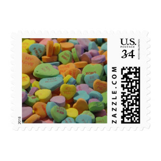 Candy Heart Be Mine I love you Texture Template Postage