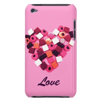 candy heart case iPod touch cases