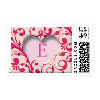 Candy Heart Elegant Custom Monograms Stamps
