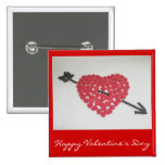 Candy Heart Happy Valentine's Day Badge Pinback Button