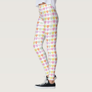 Candy Heart Hearts Valentine's Day Pastel Leggings