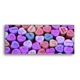 Candy Heart Messages Set Envelope