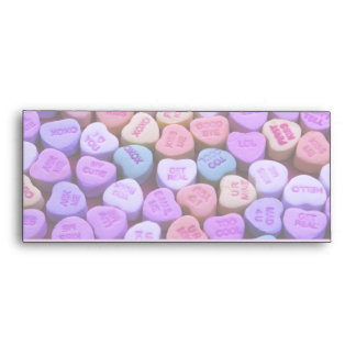 Candy Heart Messages Set Envelopes