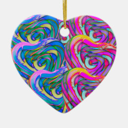 Candy Heart Ornament! Add To/From and NAME! Ceramic Ornament