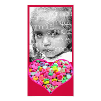 CANDY HEART PHOTO CARD