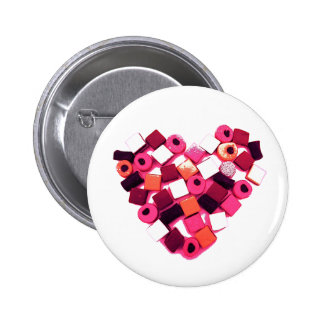candy heart pin button
