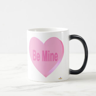 Candy Heart Pink Be Mine Magic Mug