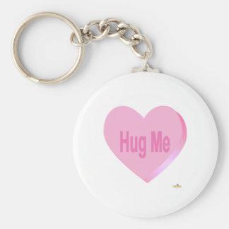 Candy Heart Pink Hug Me Keychain